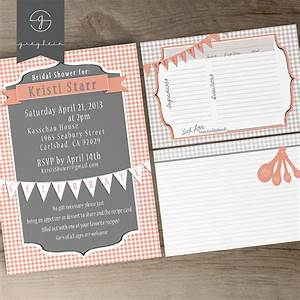 bridal shower printable invites and recipe cards on behance With bridal shower recipe cards templates
