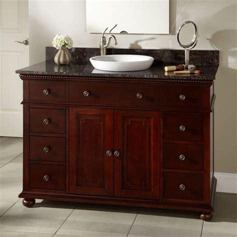 left offset sink vanity 48 quot vanity semi recessed sink left offset faucet 3 4