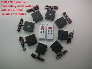 Msd 12v 8 Channels Momentary On Relay Switch With 2 Long