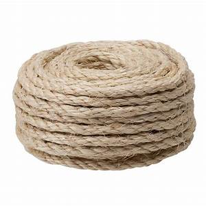Crown Bolt 1/4 in x 100 ft Natural Sisal Rope-65134