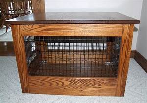 create extra comfort for your lovely dog with fancy dog With black wood dog crate