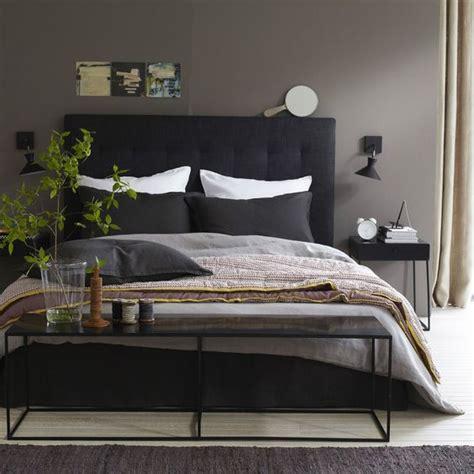 chambre noir gris noir gris blanc brun chambre nature