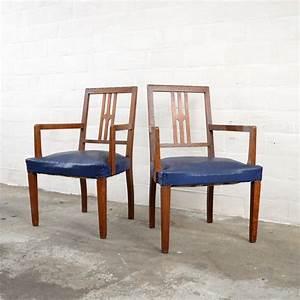 Stühle 2er Set : blaue art deco st hle 2er set bei pamono kaufen ~ Frokenaadalensverden.com Haus und Dekorationen