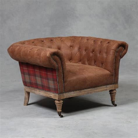 tartan chesterfield sofa vintage tartan chesterfield armchair the hippie corner