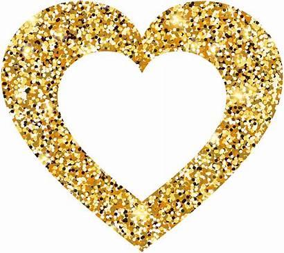 Heart Transparent Clip Clipart Golden Hearts Pngio