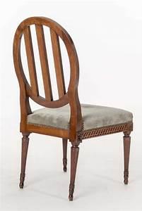 Six chaises de salle a manger d39epoque louis xvi for Salle À manger contemporaineavec lot chaises