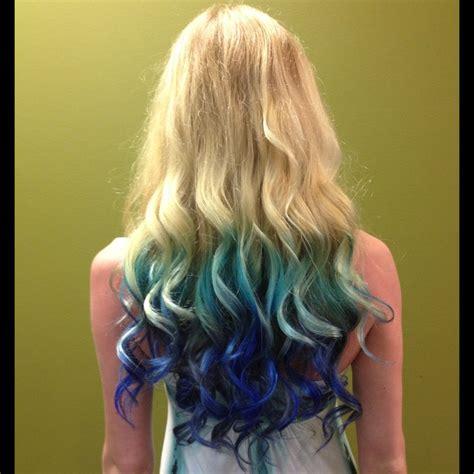 Blonde To Blue Mermaid Ombré Hair Mermaid Ombre Hair