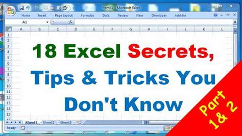 advanced excel tips  tricks excel secrets  dont