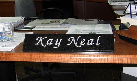 desk name plates granite interiors
