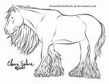 Gypsy Vanner Coloring Horse Pages Draft Lines Deviantart Template Explore Coldblooded Sketch sketch template