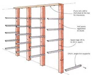 Angle-Iron Lumber Rack - FineWoodworking