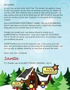 letter from santa template word where to send your kids With santa personal letter from north pole