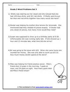 grade 3 word problems set 3 - 3 Grade Fraction Worksheets