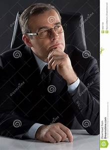 Thoughtful Businessman. Royalty Free Stock Photo - Image ...