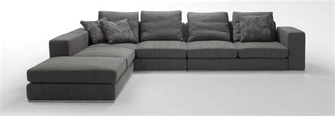 Gray Contemporary Sofa by Appealing L Shaped Sofa Come With Grey Modern Comfy Fabric