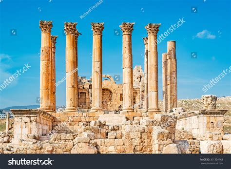 Jerash Jordan January 3 Temple Of Artemis In The Roman
