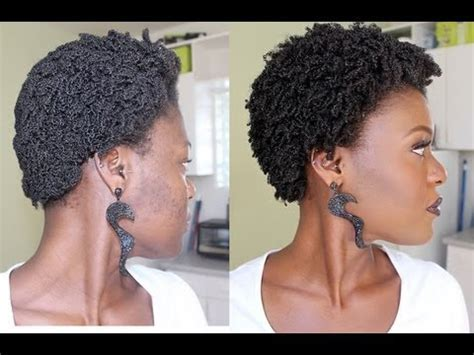 Reviving A 5day old Kinky Curly Wash N Go on 4C Hair   YouTube