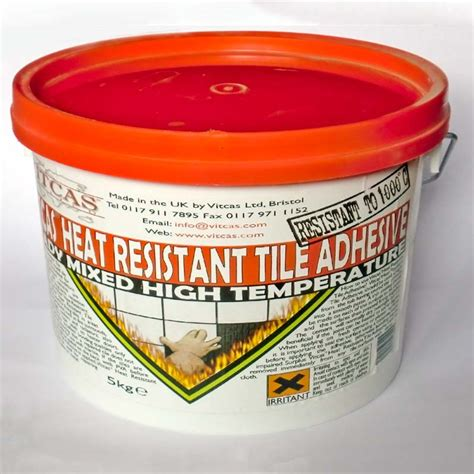 heat resistant tile adhesive 5 kg tub fireplace tiles