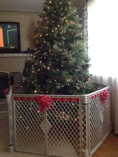 christmas tree fence for dogs handmade fence proofing tree saving the holidays tree