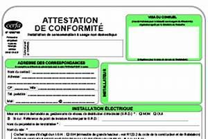 Attestation De Conformité Électrique Gratuit : attestation verte papier particuliers consuel faisons avancer la s curit lectriqueconsuel ~ Melissatoandfro.com Idées de Décoration