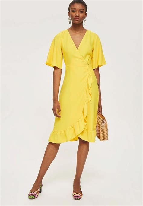 Pin by Natalie Thime on Yellow | Wrap dress, Yellow dress ...