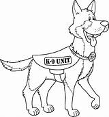 Shepherd German Coloring Pages K9 Unit sketch template