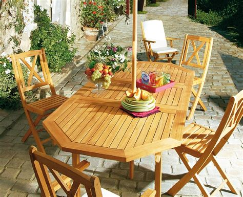 chambre en palette table de jardin en teck photo 5 10 table de jardin en