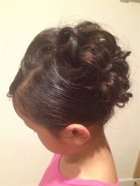 Flower Updo Hairstyles by Curly Updo Child Updos