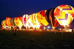 Night Glow Hot Air Balloons Photograph by Thomas Woolworth