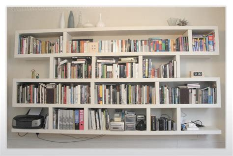 Glamorous Hanging Wall Bookshelves Online Home Designs