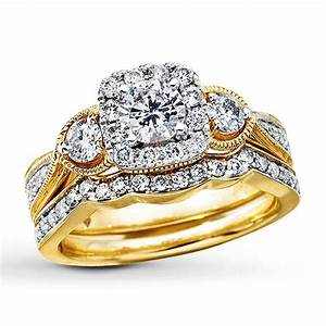 15 collection of yellow gold wedding band sets With most popular wedding ring sets