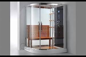 cabine douche hammam de luxe 39divinity39 deux portes With porte de douche coulissante avec mobilier salle de bain haut de gamme