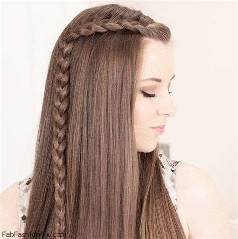 one sided french braid hairstyle tutorial fab fashion fix