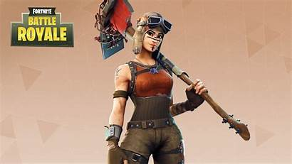 Raider Renegade Fortnite Holding Pickaxe Background Games