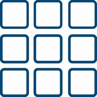 Grid Clipart Square Window Windows Clip Icons