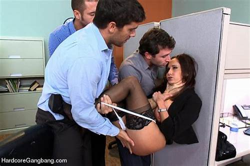 Drunk Secretaries Having Office The Couple #Ava #Addams #Busty #Office #Gangbanged #By #Co