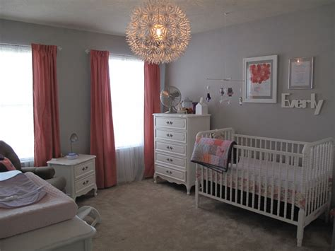 Everly Ann's Coral And Gray Nursery-project Nursery