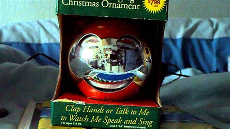 animated singing christmas ornament youtube