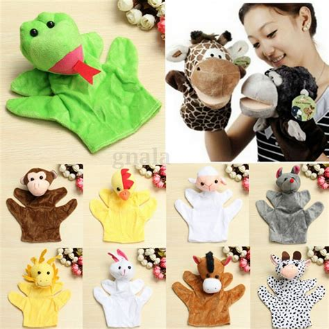 new velour animal puppets child educational 137 | s l1000