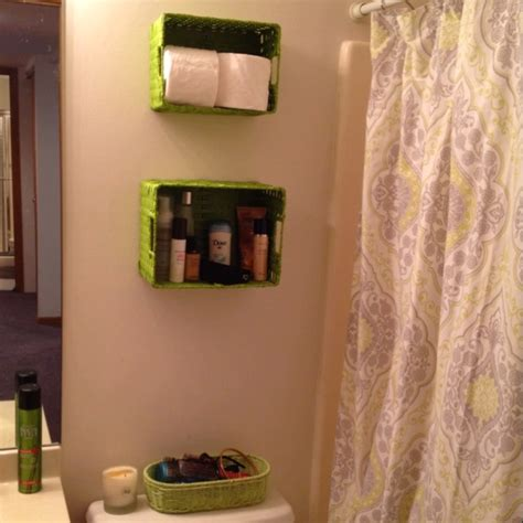 bathroom space saver ideas small bathroom space saver maybe not green baskets
