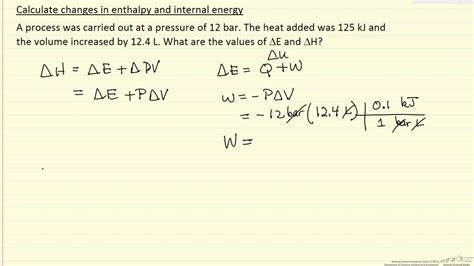 enthalpy  internal energy  youtube