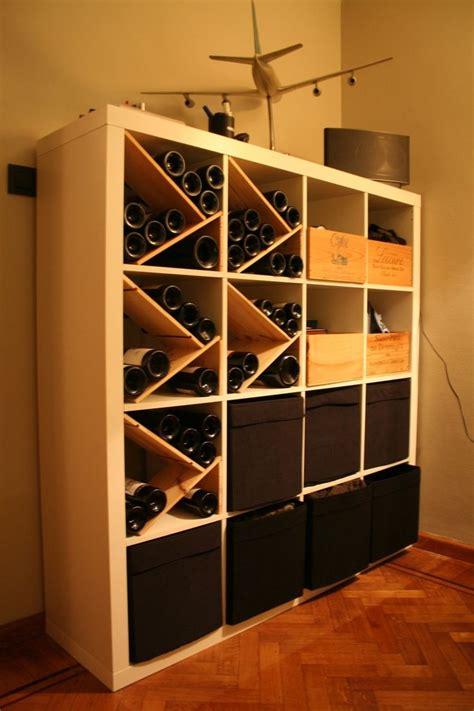 combine ikea items  build   wine rack wire baskets wine lover  built ins