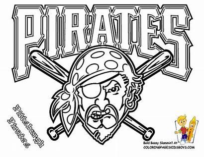 Coloring Pirates Pittsburgh Baseball Pages Mlb Major