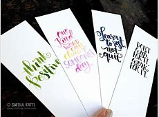 Printable bookmarks with hand lettering Smiling Colors