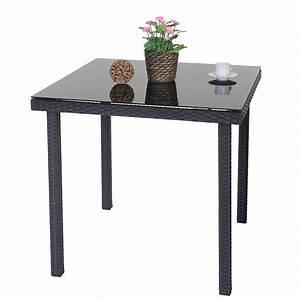 Rattan Couchtisch Mit Glasplatte : poly rattan gartentisch modica beistelltisch tisch mit glasplatte ebay ~ Bigdaddyawards.com Haus und Dekorationen