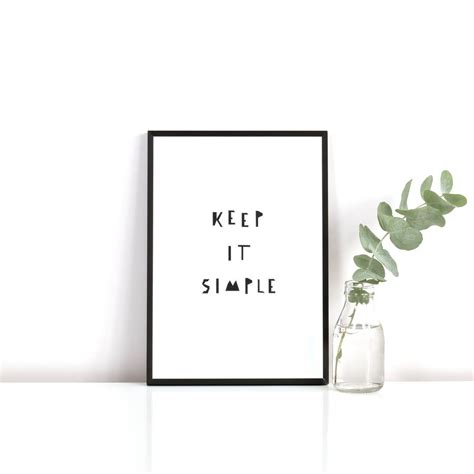 'keep it simple' print by ingrid petrie design