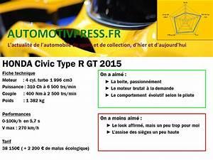 Fiche Technique Honda Civic : essai honda civic type r gt 2015 le retour de goldorak ~ Medecine-chirurgie-esthetiques.com Avis de Voitures