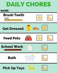 Chore Chart And Behavior Chart Free Printable Cakes To