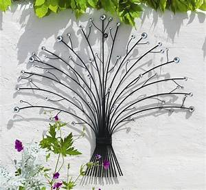 Outdoor Metal Glass Bead Bouquet Garden Wall Art (H55cm) £
