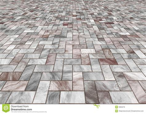 Paved marble floor tiles stock illustration. Illustration